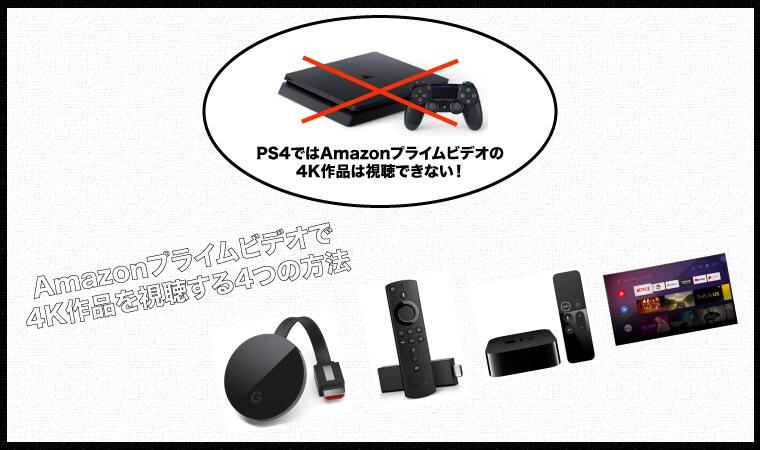 最高画質はHD!AmazonプライムビデオはPS4でも4K視聴NG