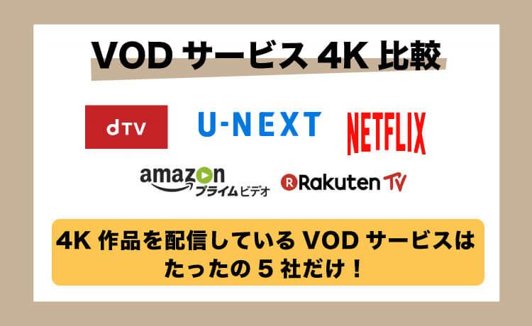 【VOD比較】4K配信で選ぶサービス5選!最高画質で最高の動画LIFE
