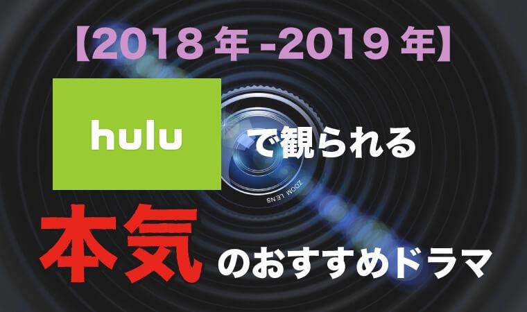 【見逃すなんてもったいない!】2018年-2019年のhulu本気のドラマ6選!