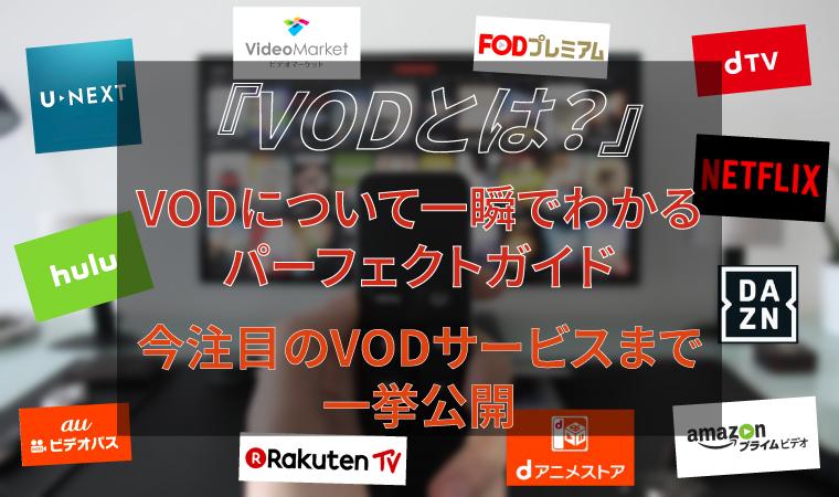 【VODとは?】が全てわかるパーフェクトガイド!注目サービスまで一挙公開